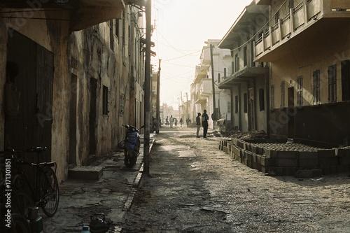 Fotobehang Smalle straatjes Senegal 1