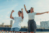 couple celebrating victory in kicker