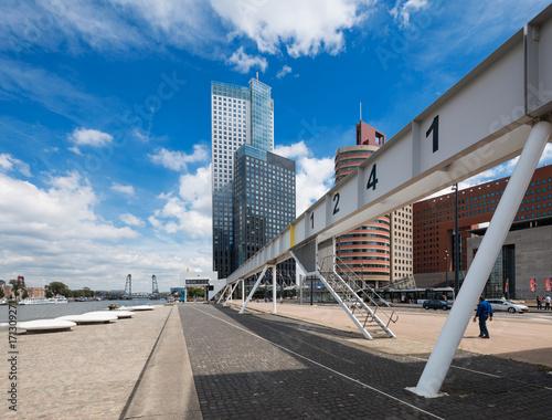 Fotobehang Rotterdam Modern landscape of Rotterdam