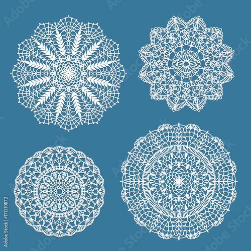Set of crochet doilies