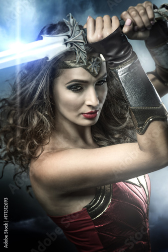 Beautiful wonder woman