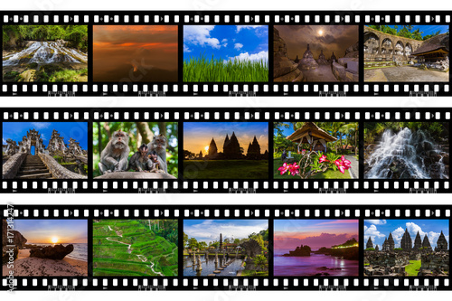 Papiers peints Bali Frames of film - Bali Indonesia travel images (my photos)