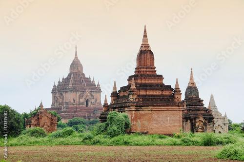 Fotobehang Thailand Buddhist temples in Bagan, Myanmar