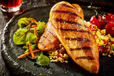 Grilled chicken breast with couscous - 171315286