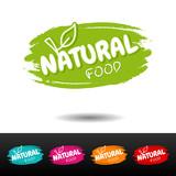 Set of Natural food badges. Vector hand drawn labels. - 171315857