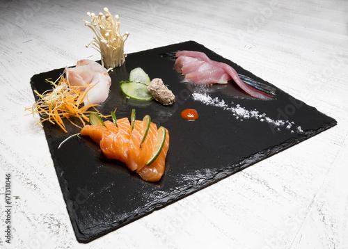 Fotobehang Sushi bar Piatto di sushi