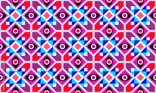 Staande foto Abstractie Art Abstract Geometric vector seamless pattern