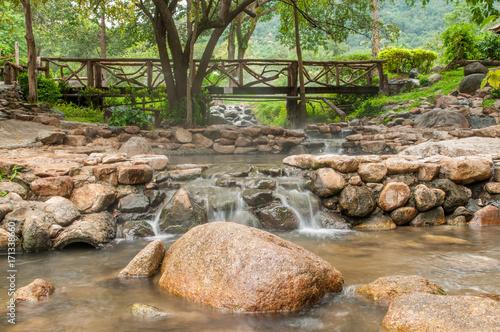 Waterfall in National park.Rainy season