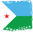 Постер, плакат: Vector Djibouti Flag Republic of Djibouti Colors Vector Art