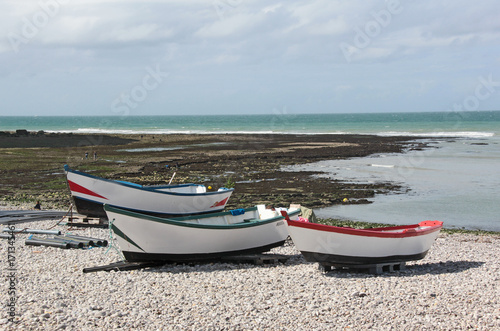 Foto op Plexiglas Blauwe hemel à marée basse