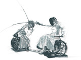 Athletes with physical disabilities - FENCING - original artwork - - 171359005