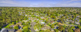 Suburbian houses in Australia. Aerial panorama on bright sunny day - 171384646