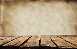 Empty wooden table - 171385261