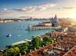 Quadro Panoramic aerial view of Venice