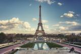 Eiffel Tower seen from Trocadero Gardens