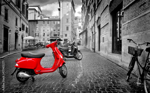 Tuinposter Scooter Motorbike in Rome
