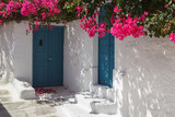 Traditional Cyclades style house in Mesaria village, Santorini island, Greece - 171404656