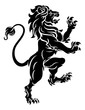 Lion Standing Rampant Heraldic Crest Coat of Arms