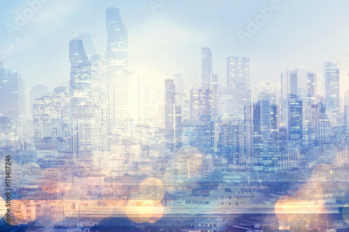 Modern city abstract background.