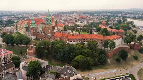 Foto op Plexiglas Krakau Krakow Wawel Castle from the height