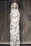Abbatiale Saint-Ouen à Rouen.Portail des marmousets, statue de Saint Ouen - 171414048