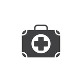 First aid kit icon vector, filled flat sign, solid pictogram isolated on white. Charity symbol, logo illustration - 171415877