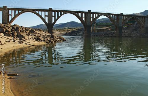 Fotobehang Bruggen bridge over swamp