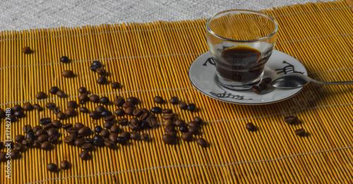 Papiers peints Café en grains Vaso con café