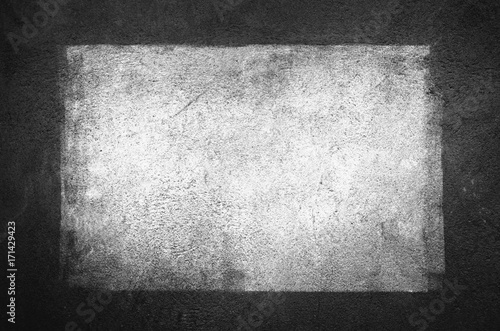 Urban Concrete Wall With Painted Blank Banner Background. Graffiti wall Texture With Empty Surface For Text Or Image. Outdoor Graffiti Building Wall With Copy Space