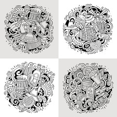 Beer fest cartoon vector doodle illustration