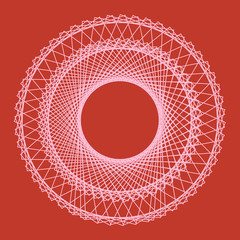 Abstract circular background with looping lines. Vector illustration.