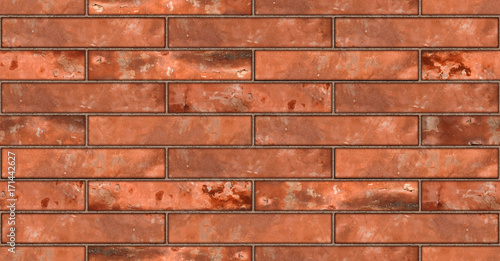Foto op Plexiglas Baksteen muur Seamless red brickwall brick stone wall texture background / Ziegelmauer Backsteinmauer rot stein ziegelsteine verblender Hintergrund nahtlos