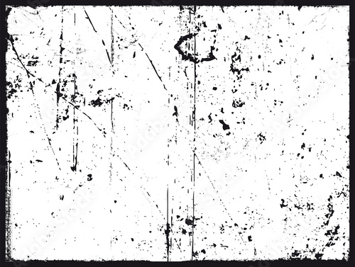 Fotobehang Vintage Poster Grunge Texture In Black And White