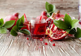 Fresh pomegranates and juice, selective focus - 171444841
