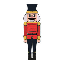 Nutcracker Toy Christmas Related Icon Image  Illustration Design Sticker