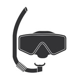 snorkel and googles isolated icon vector illustration design - 171455477