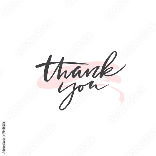 In de dag Retro sign Thank you - lettering