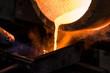 Quadro Fornace in fonderia per fusione lingotto d'oro