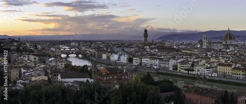 Fotobehang Florence Sunset over Florence