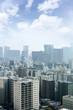 Cityscapes of tokyo in Fog after rain in winter season, Skyline of Bunkyo ward, Tokyo, Japan