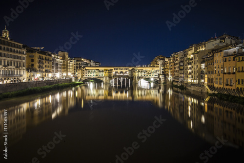 Fotobehang Florence Night view of Ponte Vecchio, Florence.