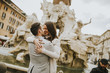 Loving couple in Rome, Italy