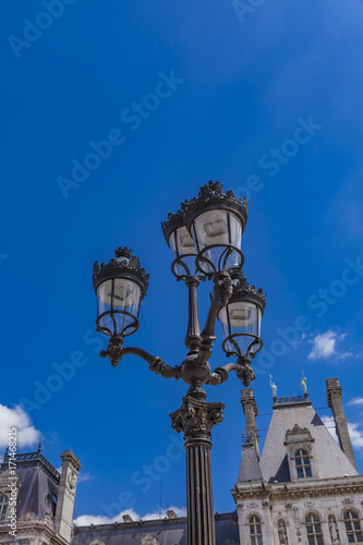 Fridge magnet Street lights by Hotel de Ville (City Hall) in Paris