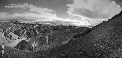 Keuken foto achterwand Donkergrijs mountain iceland