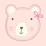 cute romantic hand drawn teddy bear