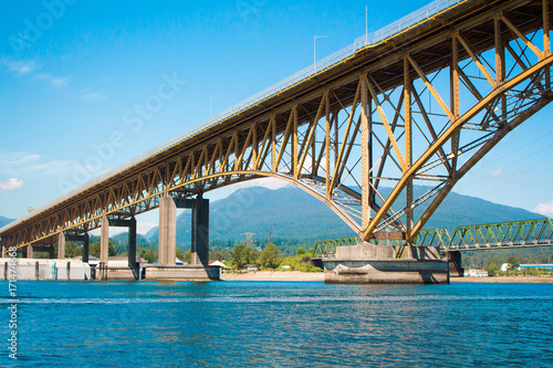 Foto op Canvas Canada Photo of Iron Worker's Memorial Bridge in Vancouver, BC