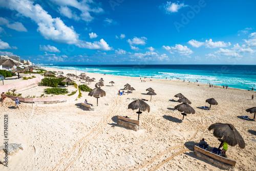 Cancun beach panorama, Mexico - 171480228