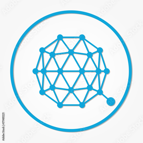 Qtum coin cryptocurrency. Vector sign icon. Internet money