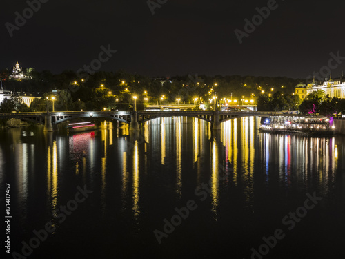 View from charles bridge Prague Poster