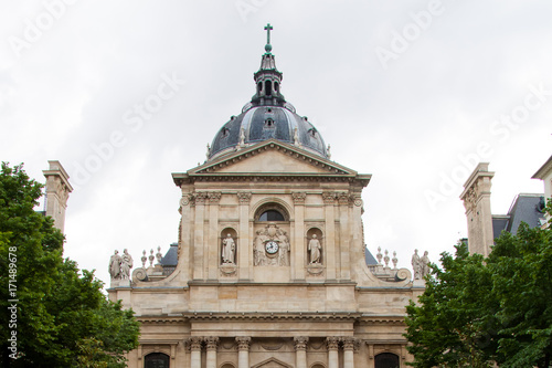 Foto op Canvas Texas Dome of the Chapel of the Sorbonne University. Latin Quarter, Paris, France